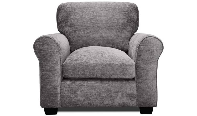 Buy Argos Home Tammy Fabric Armchair - Charcoal ...