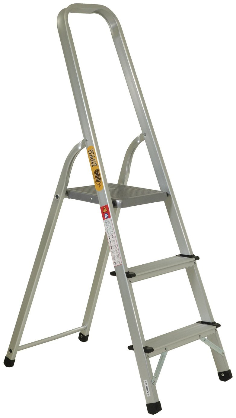 Rhino 3 Tread High Handrail Step Ladder