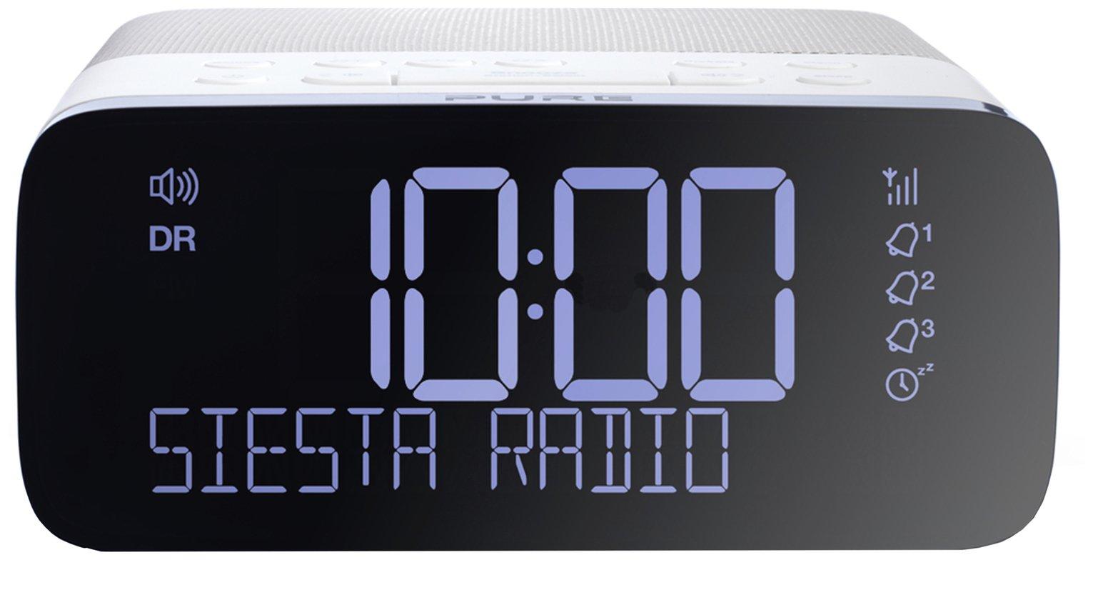 Pure Siesta Rise DAB+/FM Bedside Alarm Clock - White
