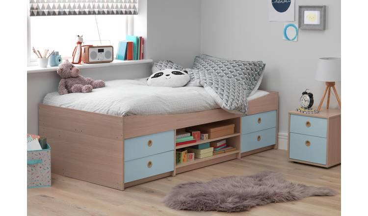 Stupendous Buy Argos Home Camden Blue Acacia Cabin Bed Kids Mattress Kids Beds Argos Home Interior And Landscaping Palasignezvosmurscom