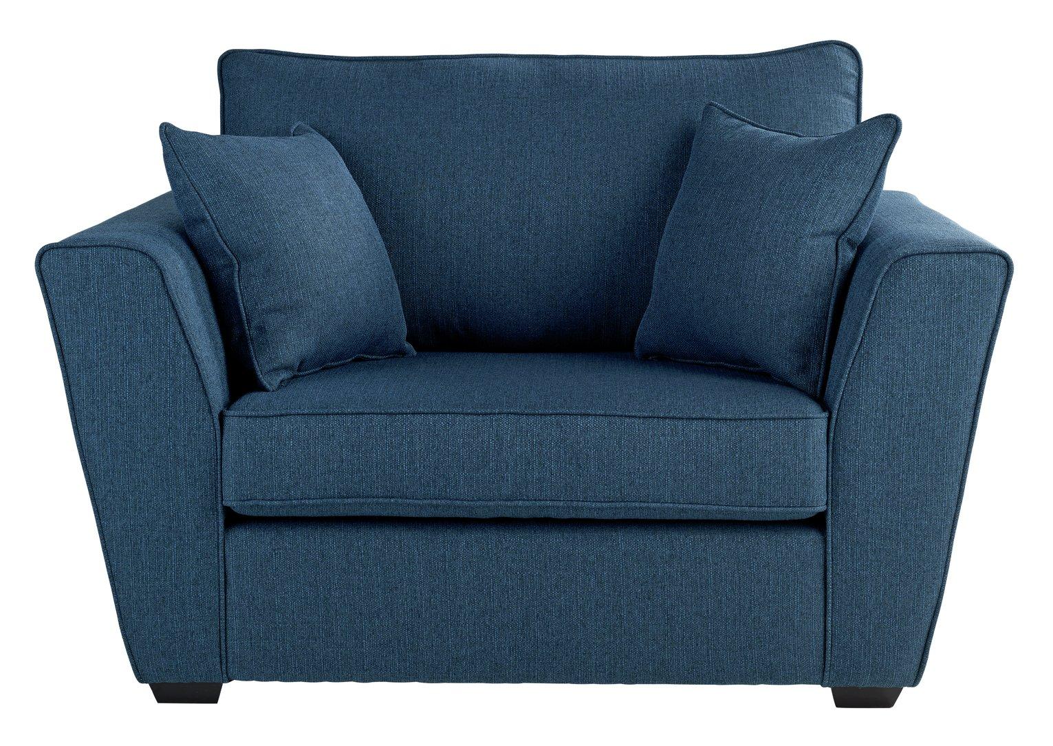 Argos Home Renley Fabric Cuddle Chair - Blue