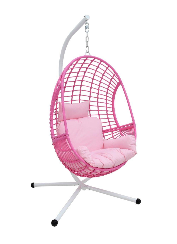 Rattan Hanging Egg Chair Pink 8799643 Argos Price Tracker Pricehistory Co Uk