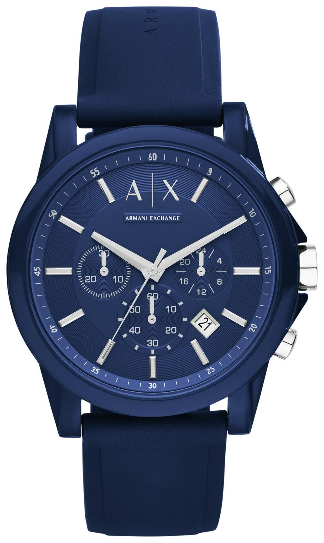 Armani Exchange Blue Dial Adjustable Strap Watch