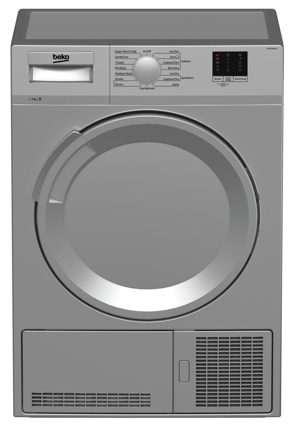 Beko DTLCE70051S 7KG Condenser Tumble Dryer - Silver