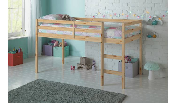 Argos Home Kaycie Shorty Mid Sleeper & Kids Mattress - Pine