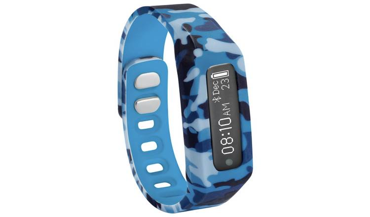 Nuband Jr Champs Kids Fitness Tracker - Camo Blue