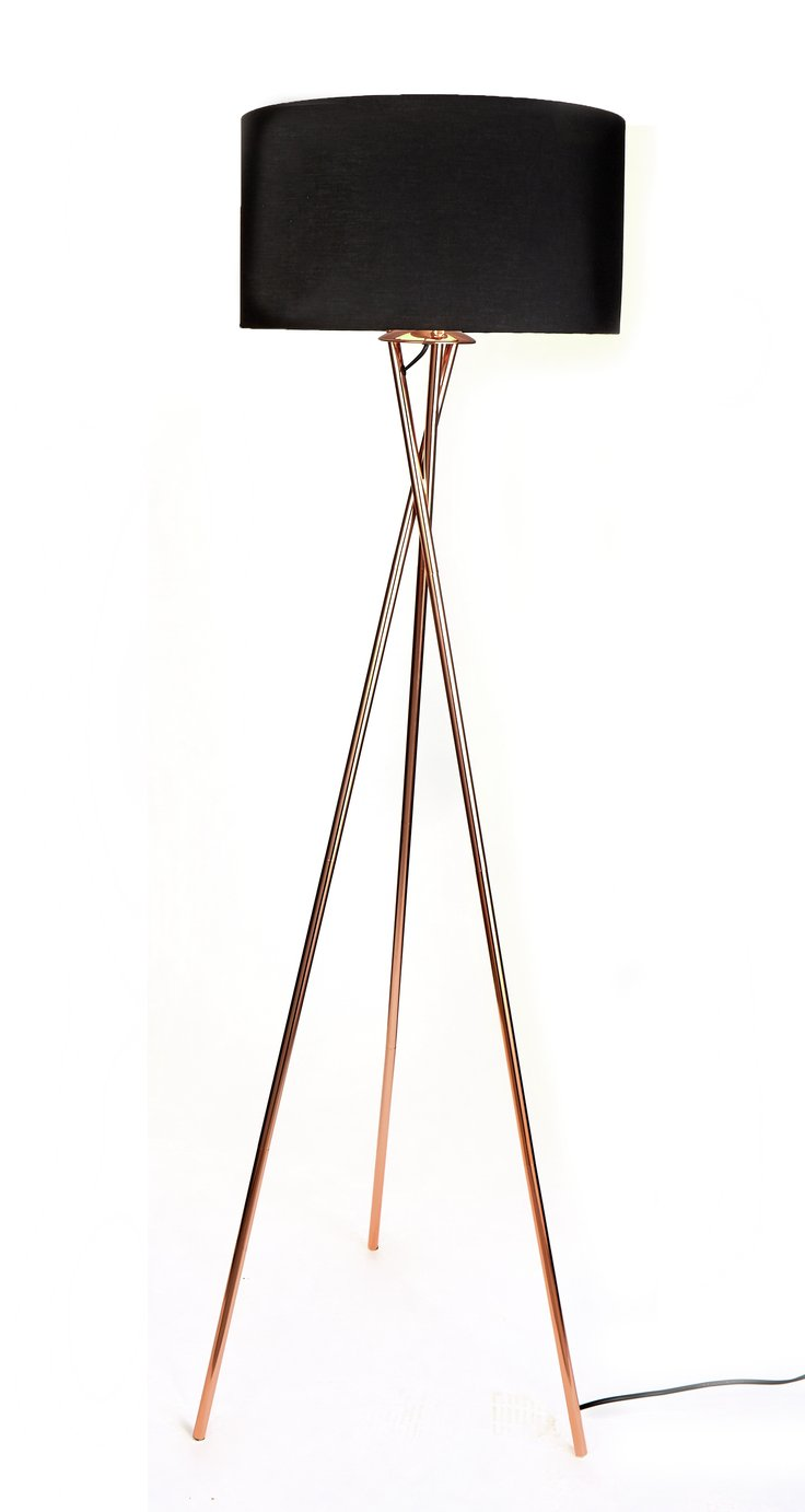 Argos Home Tripod Floor Lamp - Copper & Black