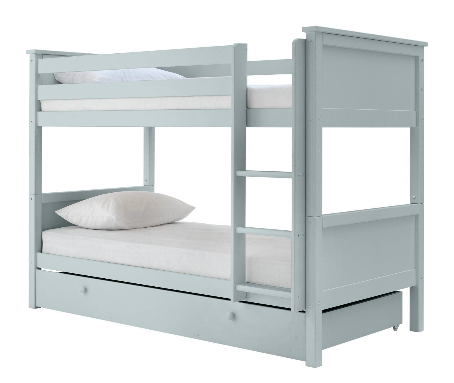 Argos Home Brooklyn Grey Bunk Bed, Drawer & Kids Mattress