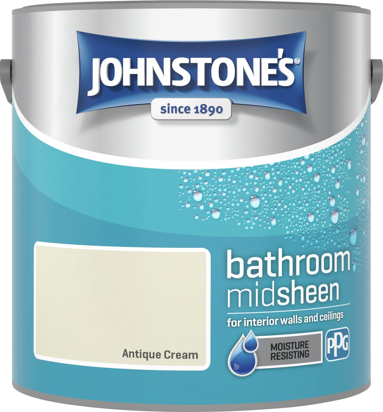 Johnstone's Bathroom Paint 2.5L - Antique Cream