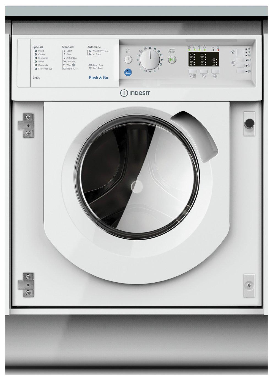 Indesit BIWDIL7125 7KG / 5KG 1200 Spin Washer Dryer - White