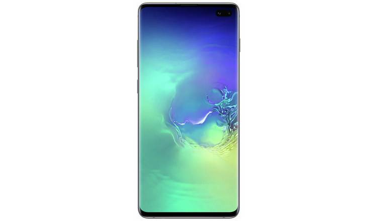 Buy SIM Free Samsung Galaxy S10+ 128GB - Prism Green | SIM ...
