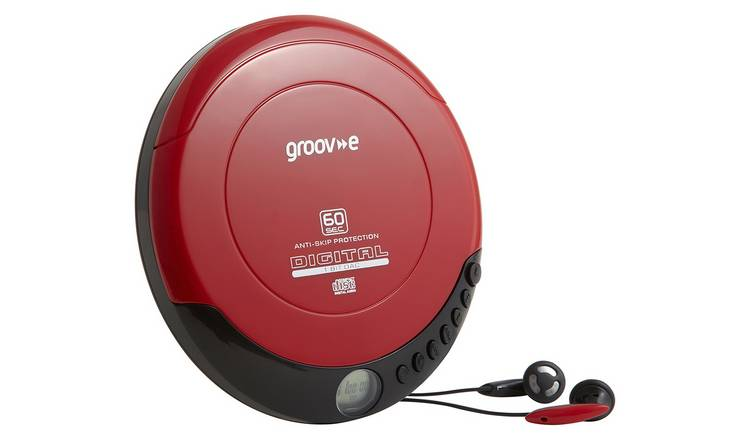 Groov-e Retro Series Personal CD Player - Red