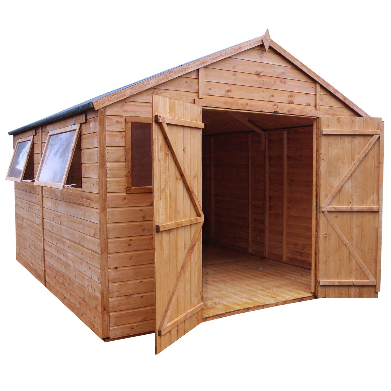 Mercia Wooden 12 x 10ft Premium Apex Workshop