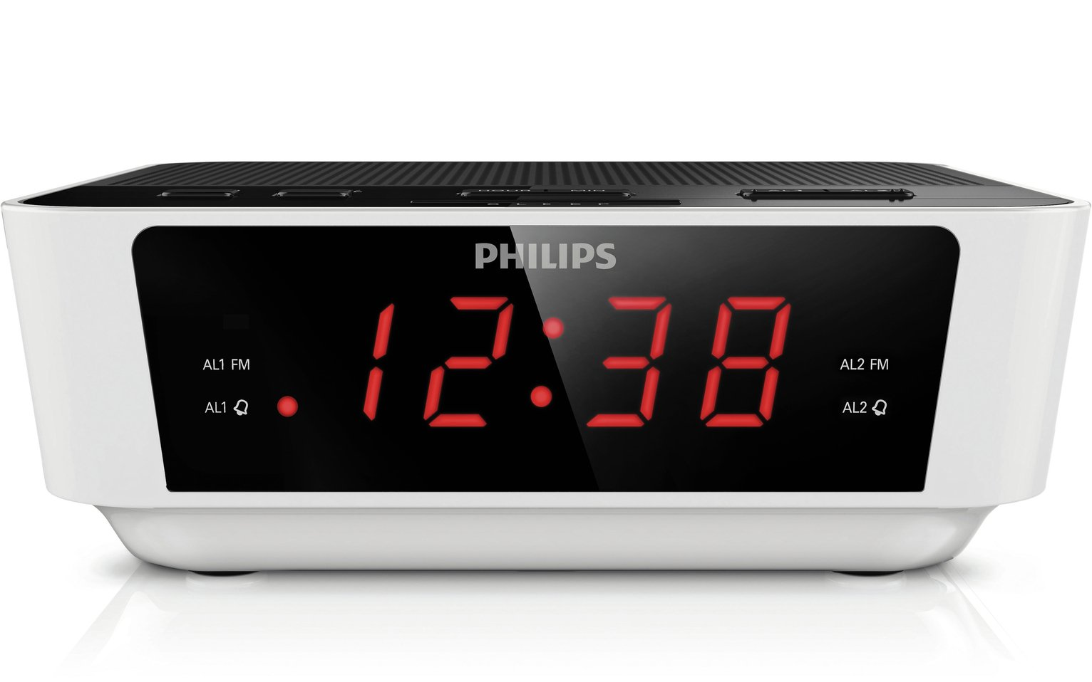 Philips AJ3115 FM Clock Radio - White