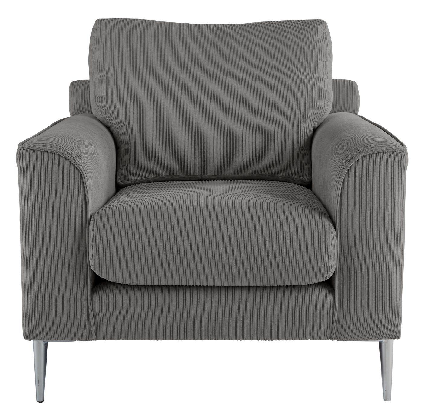 Argos Home Beckett Fabric Armchair - Charcoal