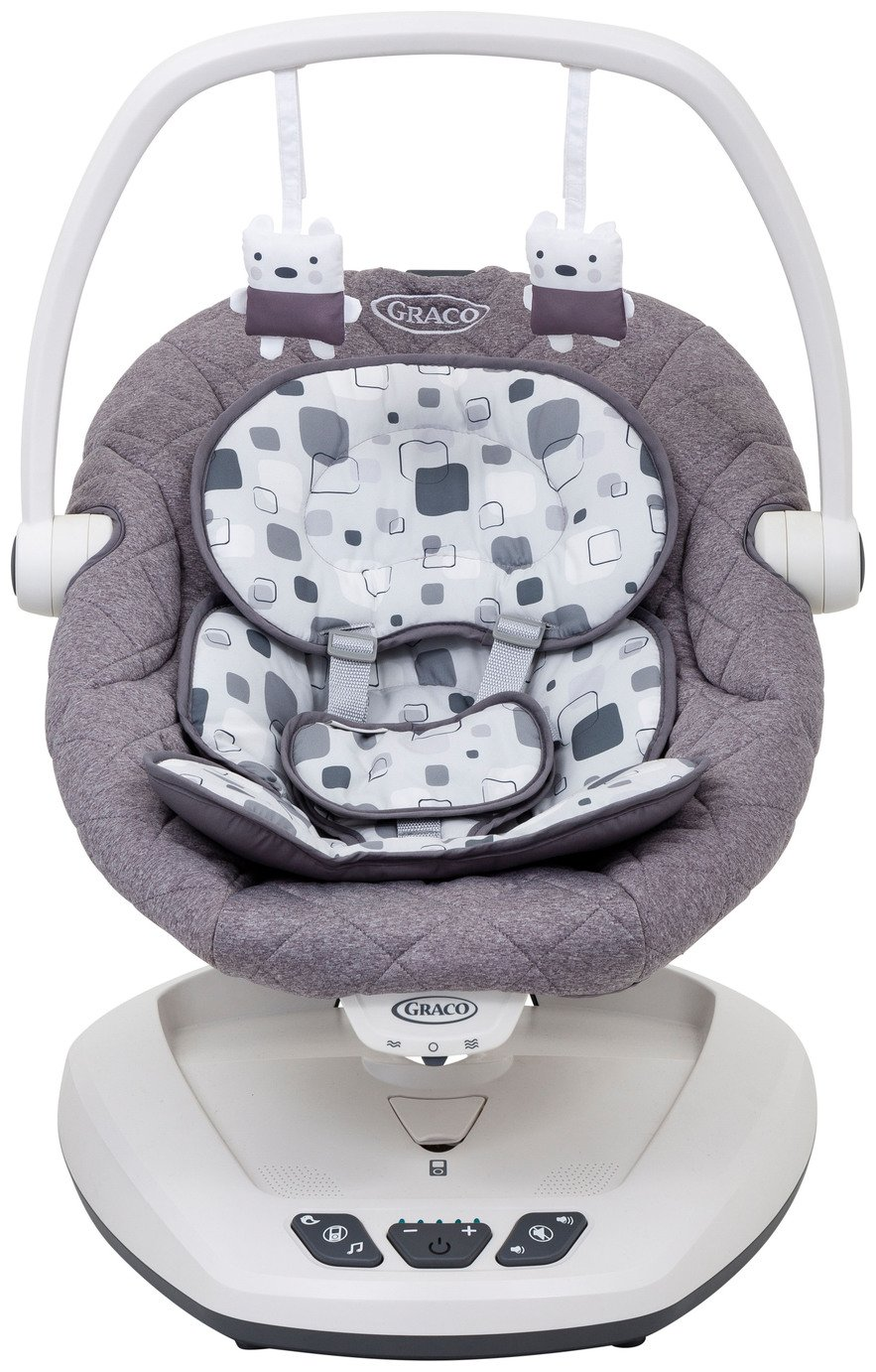 Graco Move with Me Soother Bouncer - Block Party Best Price, Cheapest Prices