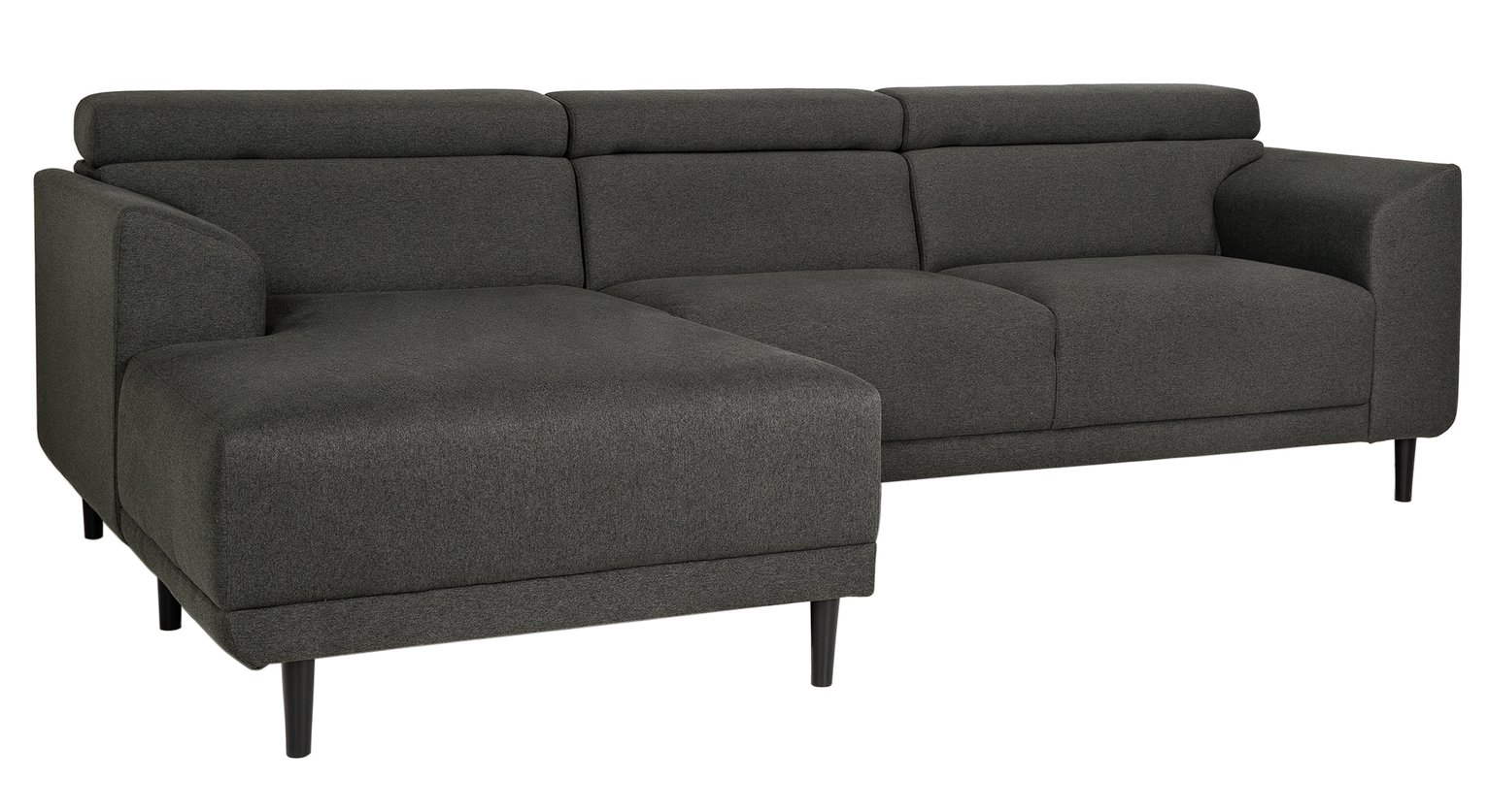 Argos Home Jonas Left Corner Fabric Sofa - Charcoal