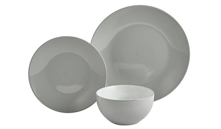 Argos Home 12 Piece Stoneware Dinner Set - Grey