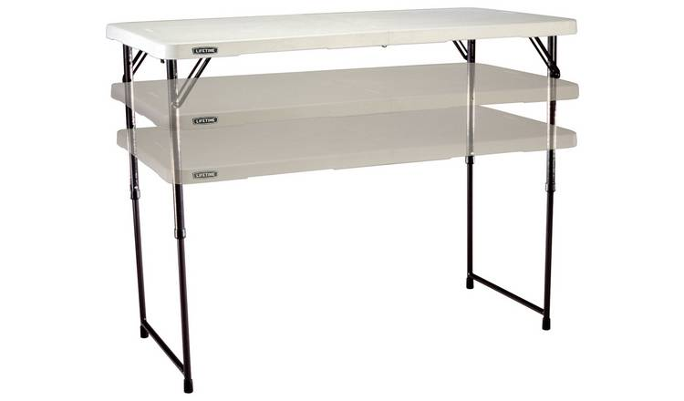 Lifetime 4ft Adjustable Height and Foldable Steel Table