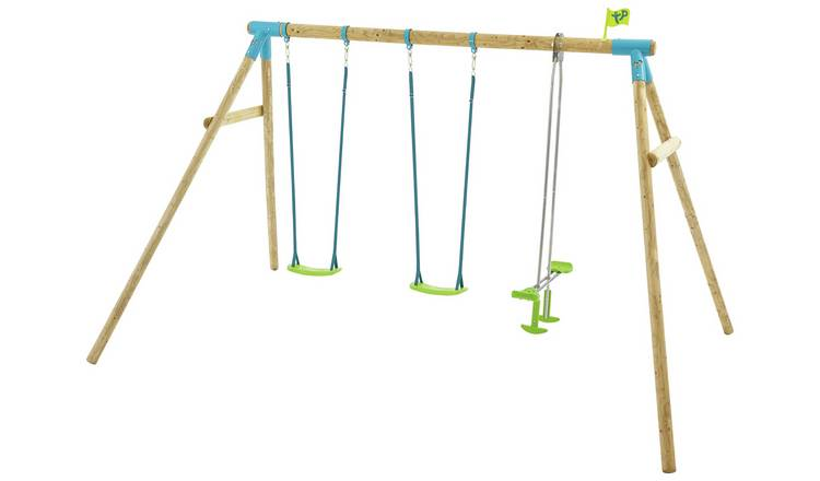 TP Heron Kids Wooden Garden Swing Set and Glider