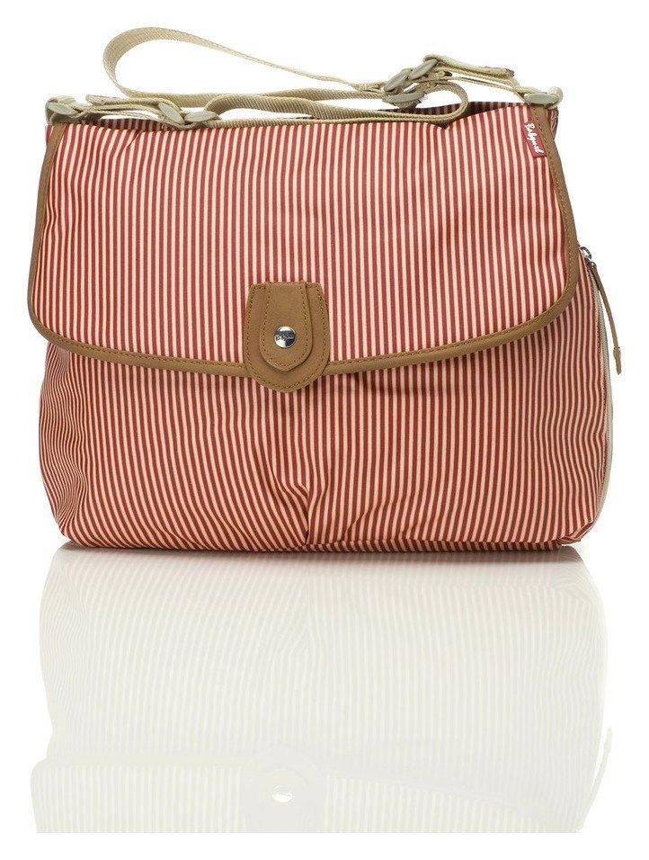 Babymel Satchel Changing Bag - Red Stripe