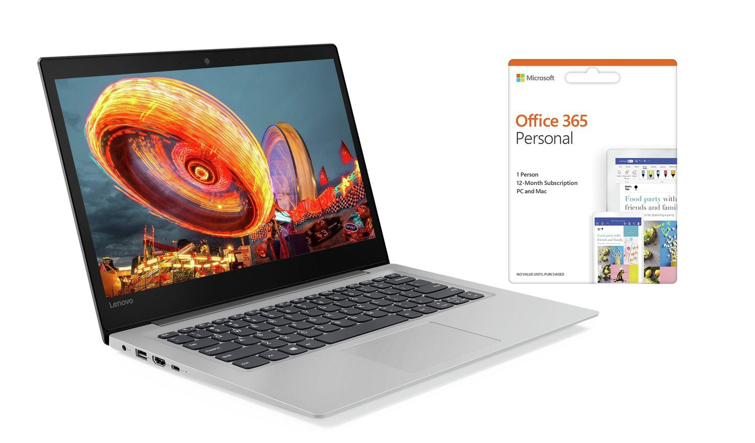 Lenovo IdeaPad S130 14 Inch Celeron 4GB 64GB Cloudbook -Grey