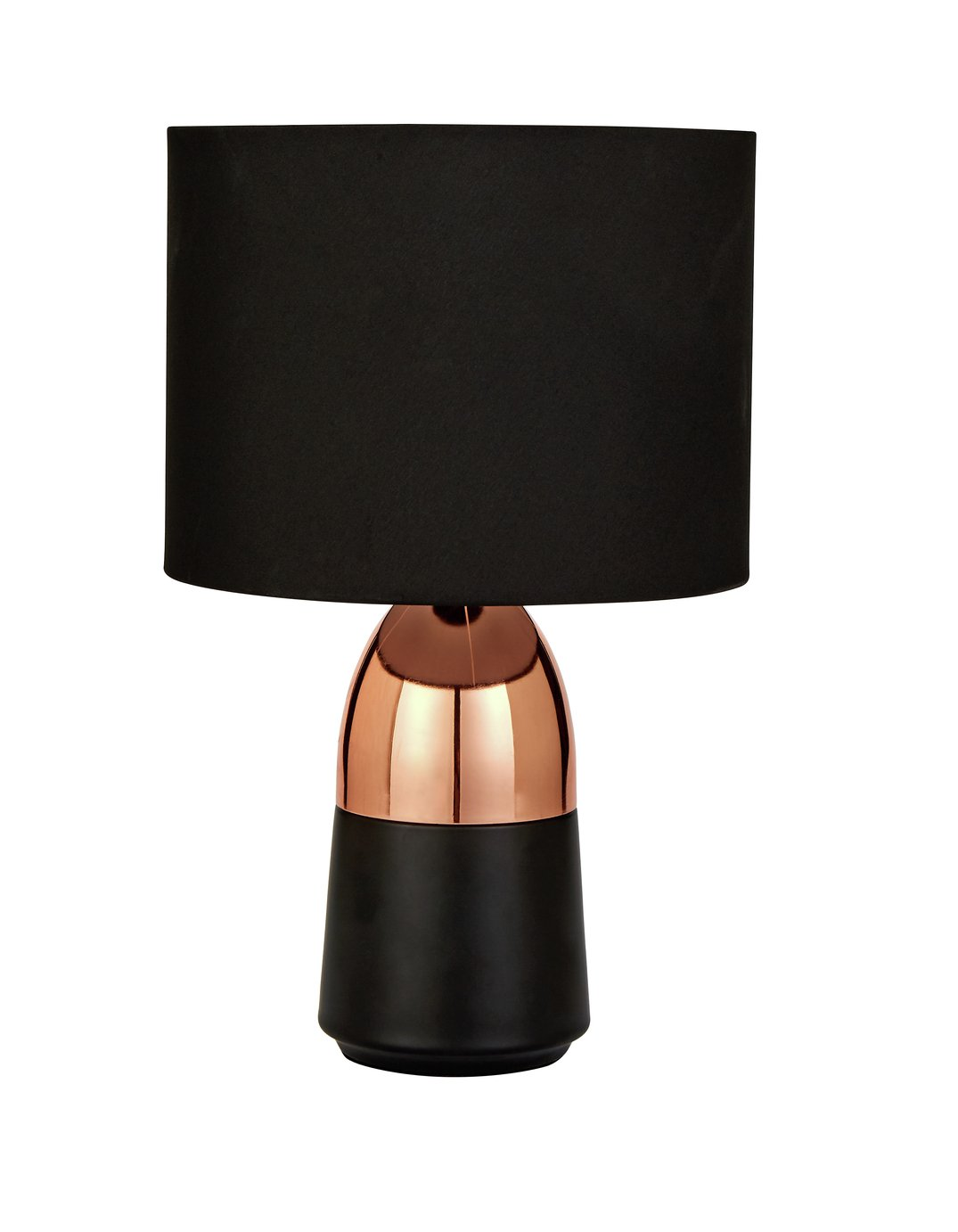Argos Home Duno Black & Copper Touch Table Lamp