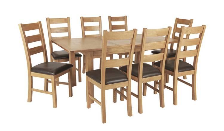 Miraculous Buy Argos Home Ashwell Oak Veneer Extending Table 8 Chairs Dining Table And Chair Sets Argos Inzonedesignstudio Interior Chair Design Inzonedesignstudiocom