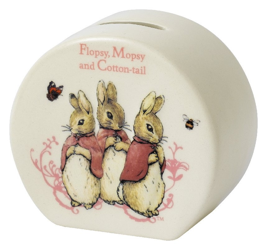 Beatrix Potter Flopsy Mopsy Cotton Tail Money Bank
