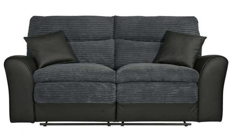 Buy Argos Home Harry 3 Seater Fabric Recliner Sofa - Charcoal | Sofas |  Argos