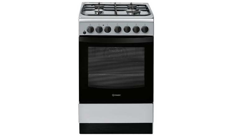 Indesit IS5G4PHSS 50cm Single Dual Fuel Cooker - Graphite