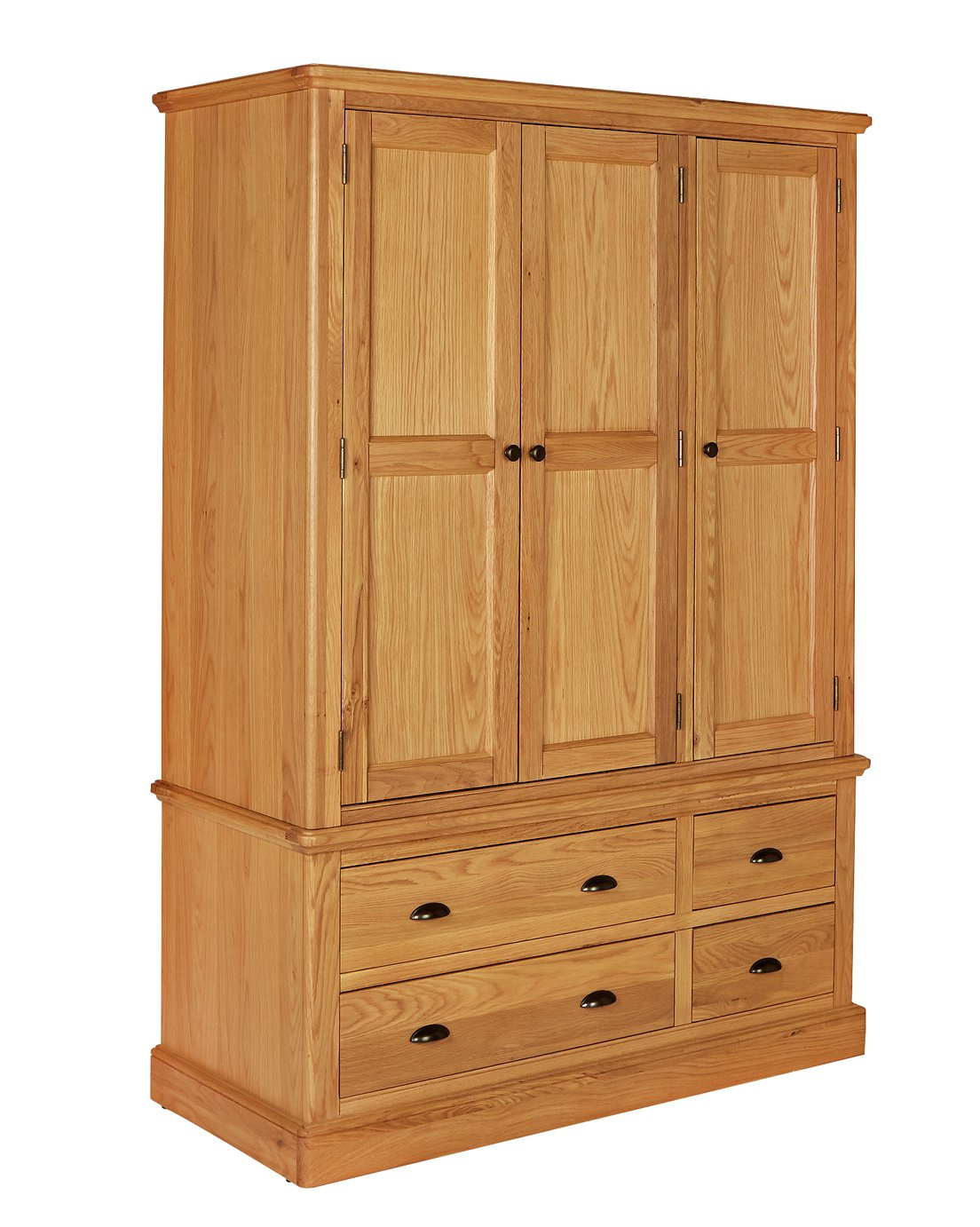Argos Home Oakham Oak & Veneer 3 Door 4 Drawer Wardrobe