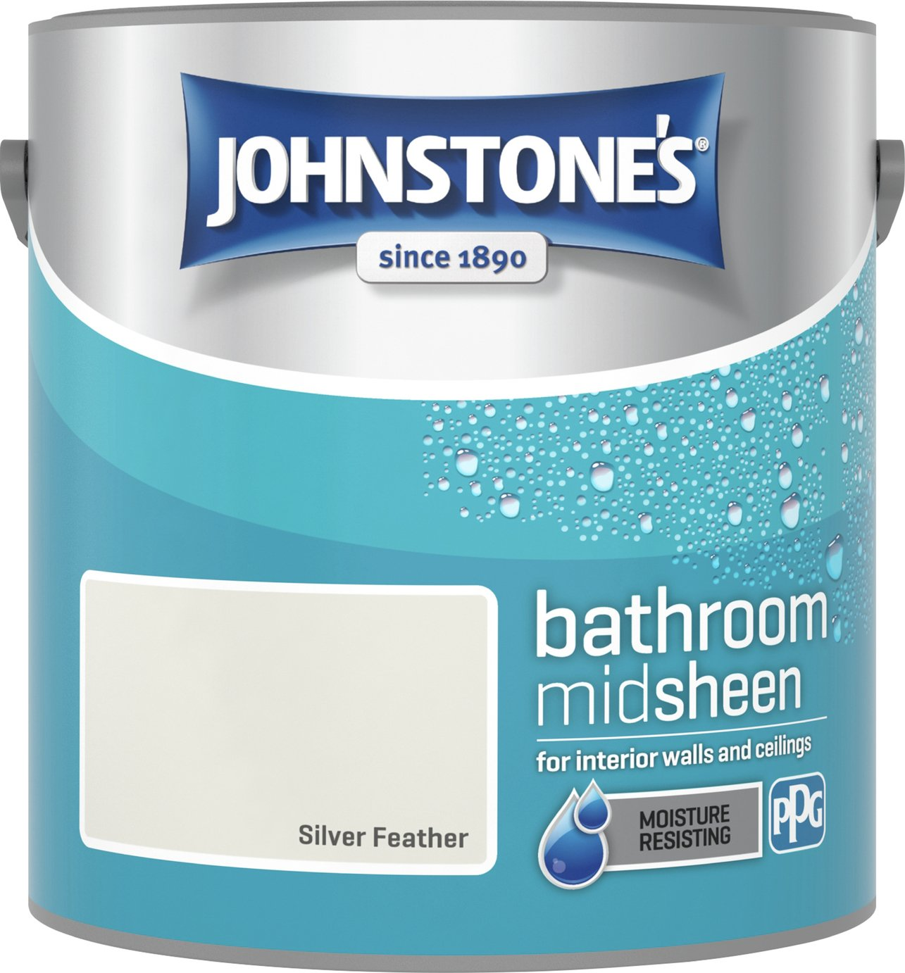 Johnstones Silver Feather Bathroom Emulsion Paint 2.5L