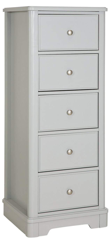 Argos Home Ashbourne Soft Grey 5 Drawer Tallboy
