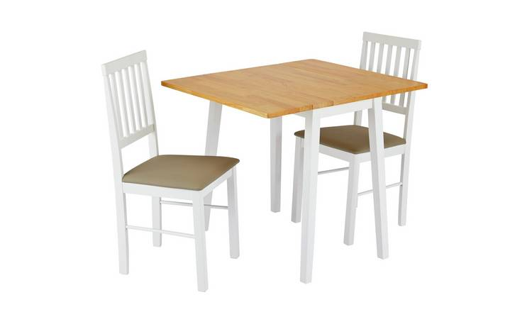 Argos Home Kendal Solid Wood Extending Table & 2 Chairs