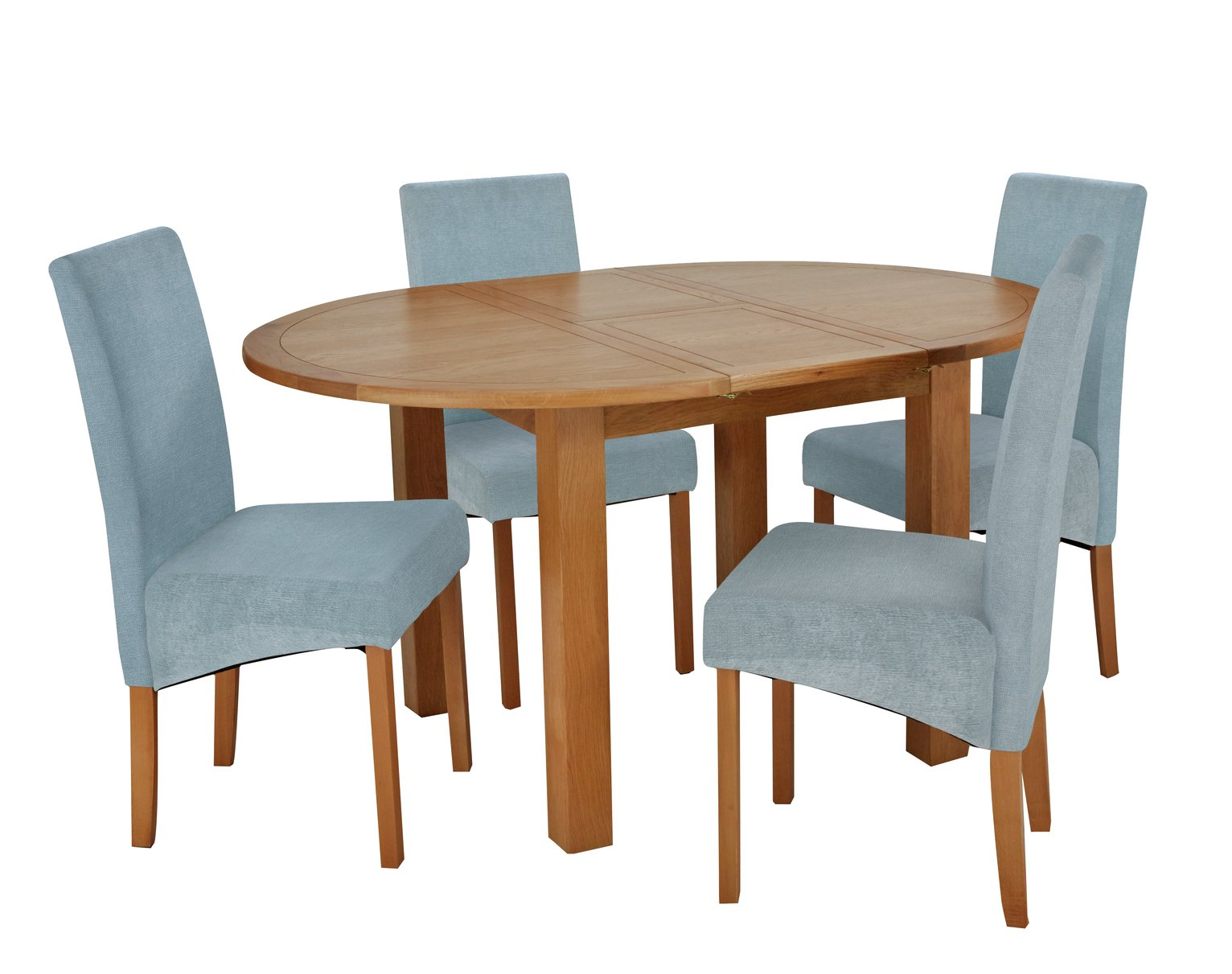 Argos Home Clifton Extendable Table & 4 Chairs - Duck Egg