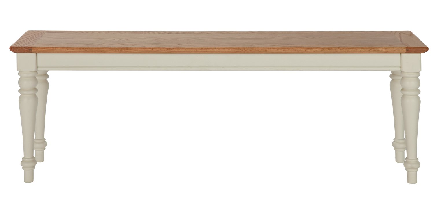 Argos Home Woodbury Dining Bench - Two Tone