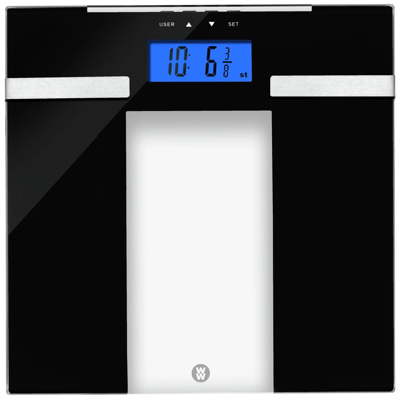 Weight Watchers Ultra Slim Body Analyser Scale - Glass