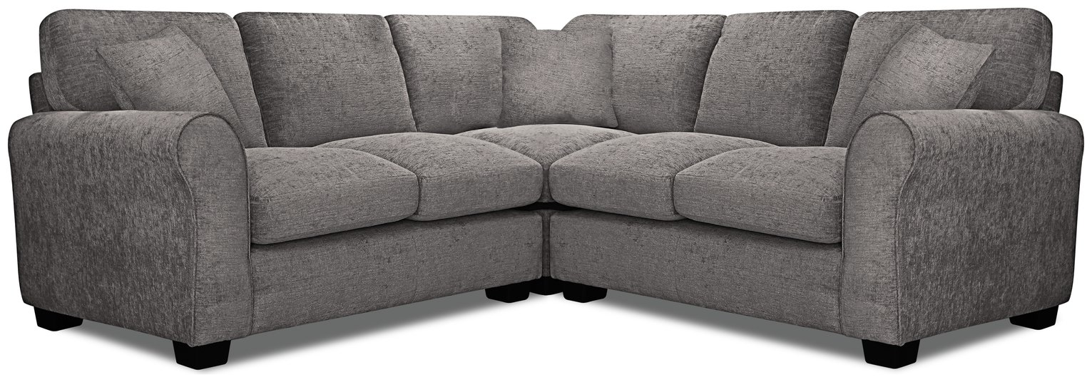 Argos Home Tammy Corner Fabric Sofa - Charcoal