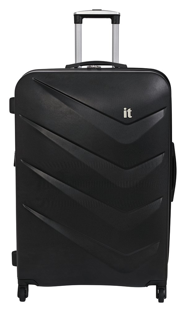 it Luggage Large Expandable 4 Wheel Hard Suitcase - Black