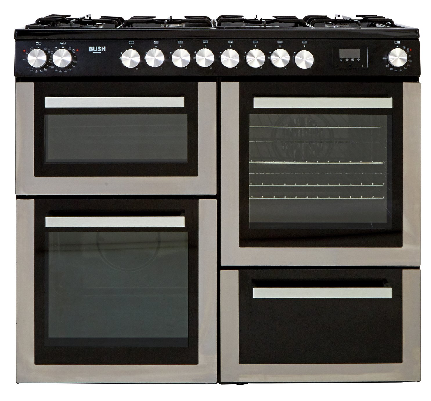 Bush BRC100DHMSS 100cm Dual Fuel Range Cooker - S/Steel