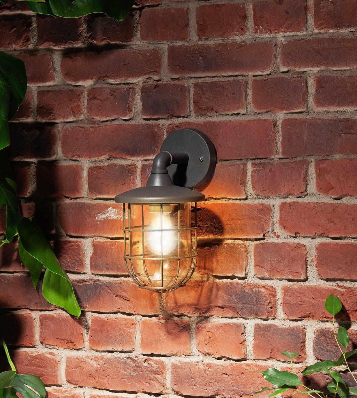 Argos Home Indira Grey Outdoor Cage Wall Lantern