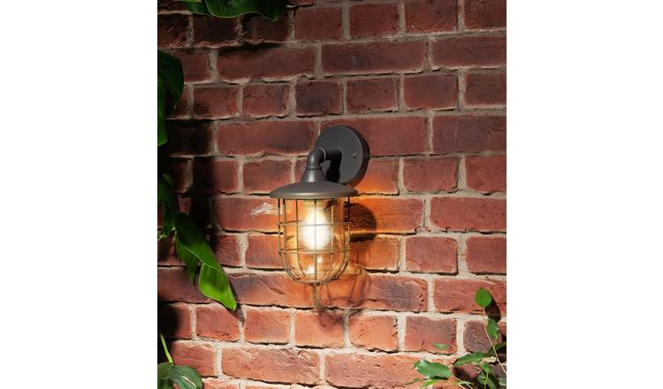 Argos Home Indira Grey Outdoor Cage Wall  Lantern