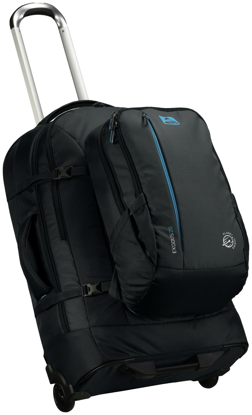 Vango Exodus Wheeled Travel Bag and 60L Backpack - Black
