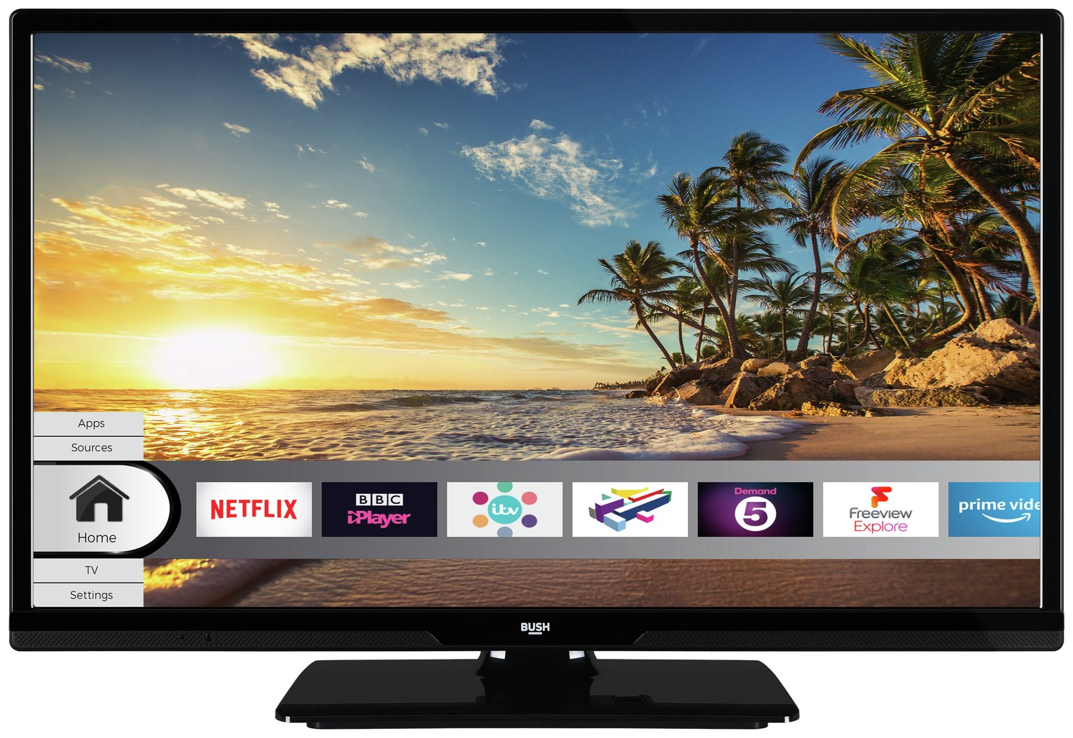 Bush 24 Inch Smart HD Ready TV / DVD Combi - Black