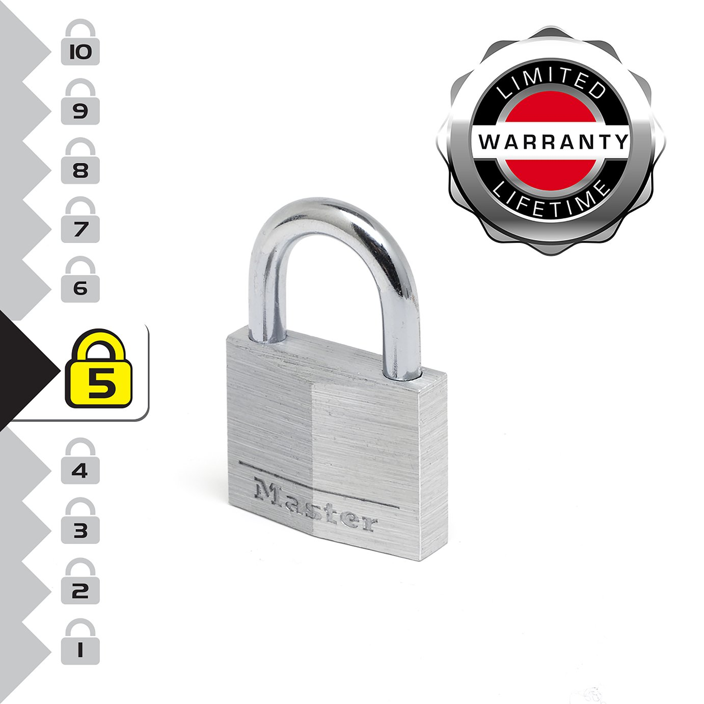Master Lock Aluminium Padlock - Twin Pack