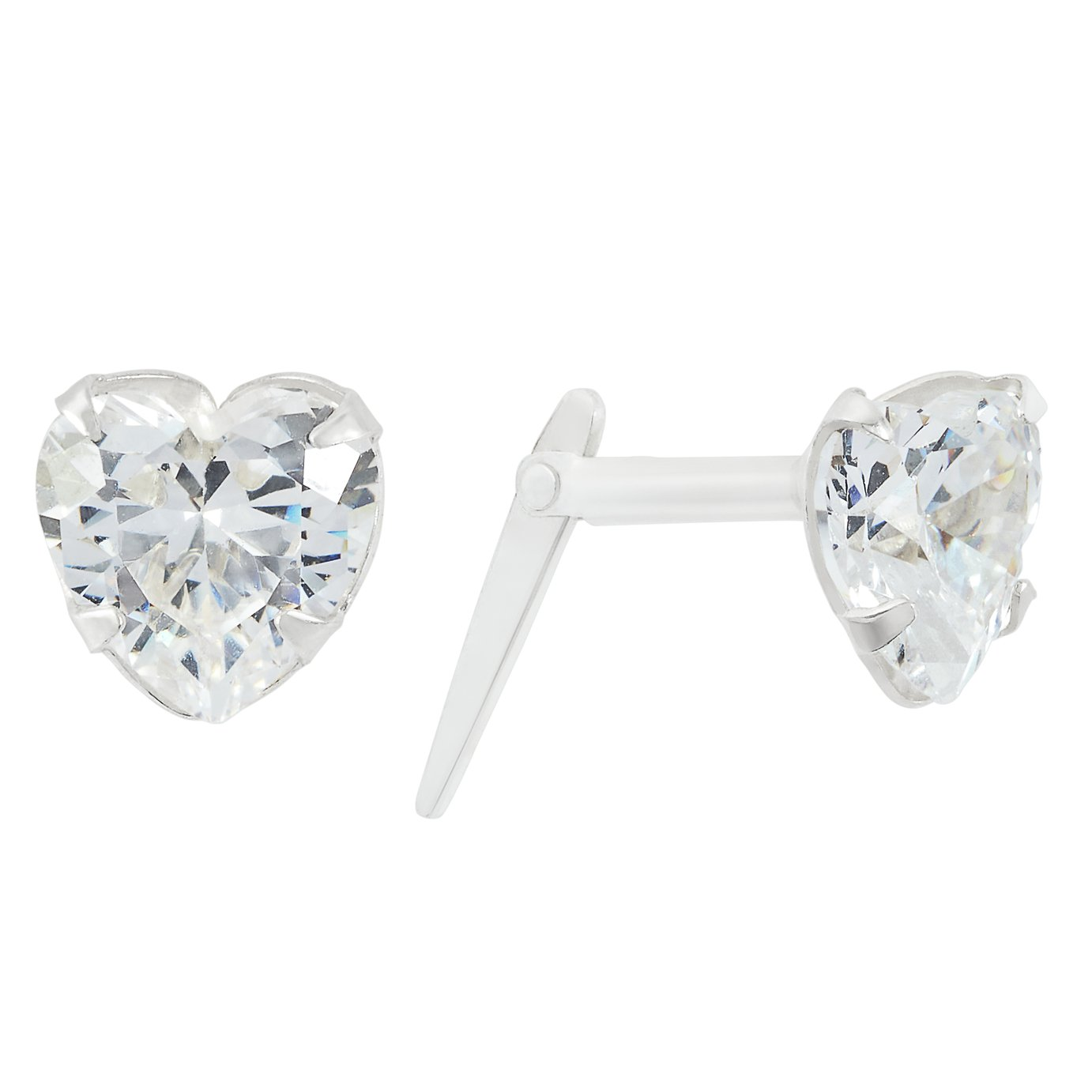 Revere Sterling Silver Cubic Zirconia Andralok Stud Earrings