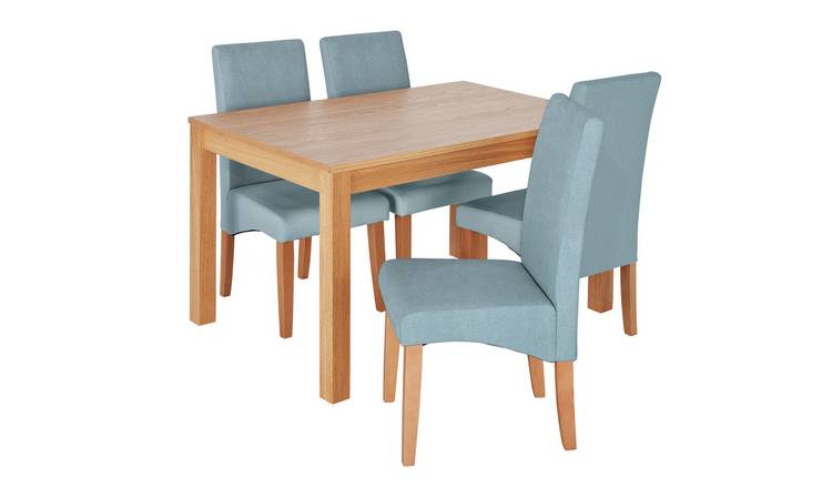 Tremendous Buy Argos Home Clifton Oak Table 4 Chairs Duck Egg Dining Table And Chair Sets Argos Cjindustries Chair Design For Home Cjindustriesco