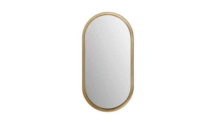 Habitat Metal Pill Mirror - Gold