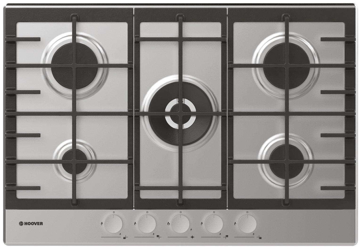 Hoover HHG75WMX Gas Hob - Stainless Steel